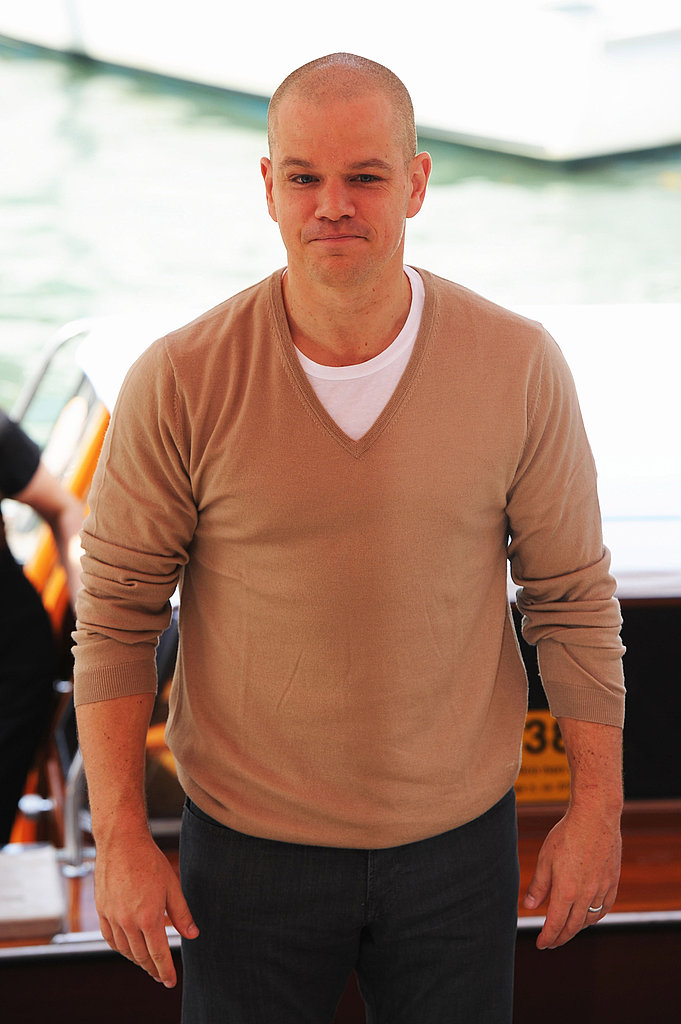 Matt Damon at the Venice photo call for Contagion.