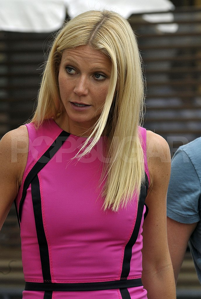 Gwyneth Paltrow Rocks Short Shorts on Her Way Out of Venice