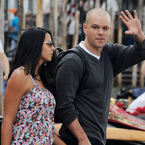 Matt Damon With Luciana Damon in Venice Pictures