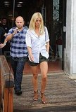 Gwyneth Paltrow in short shorts.
