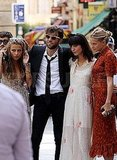 Charlotte Ronson, a friend, Irina Lazareanu, and Annabelle Dexter-Jones at Mark Ronson's wedding.