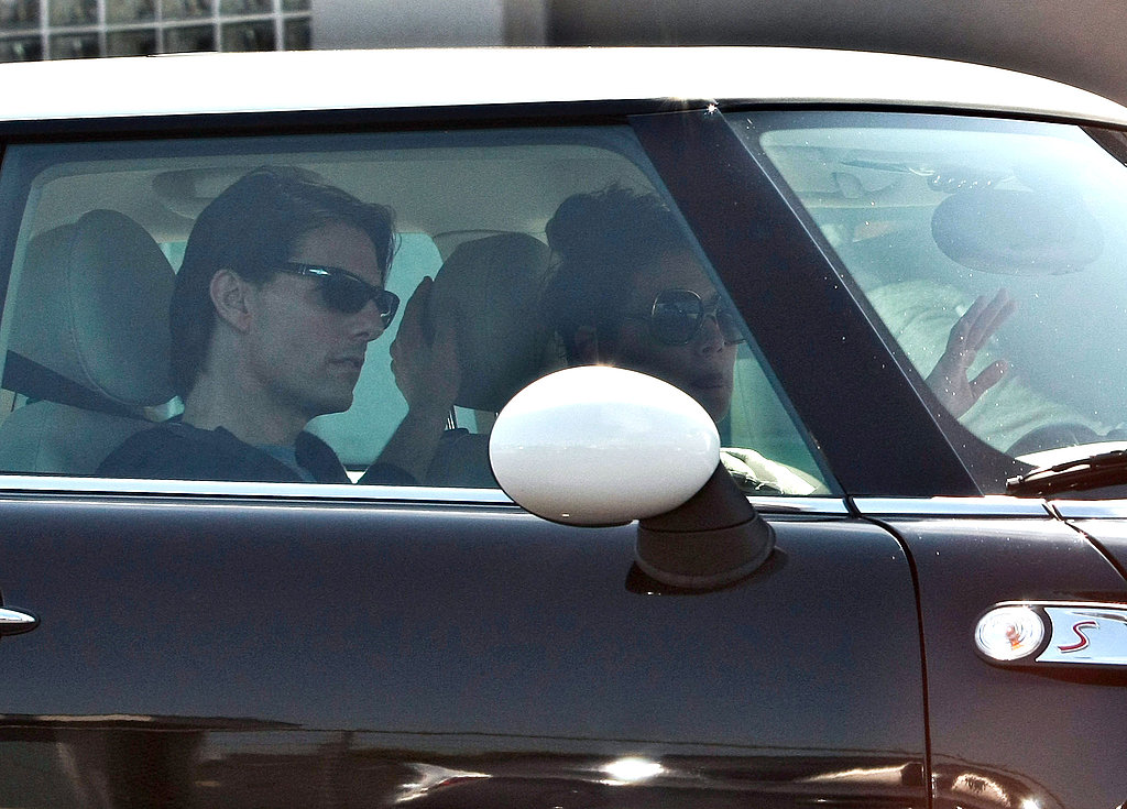 Tom Cruise and Katie Holmes visited a dance studio in LA.