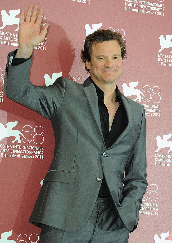 Colin Firth at a Tinker, Tailor, Soldier, Spy press conference.