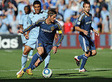 David Beckham and the LA Galaxy squared off against Sporting Kansas City on Monday in Kansas.