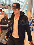 Robert Pattinson looked happy to be back in his hometown of London.