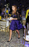 Princess Beatrice in purple.
