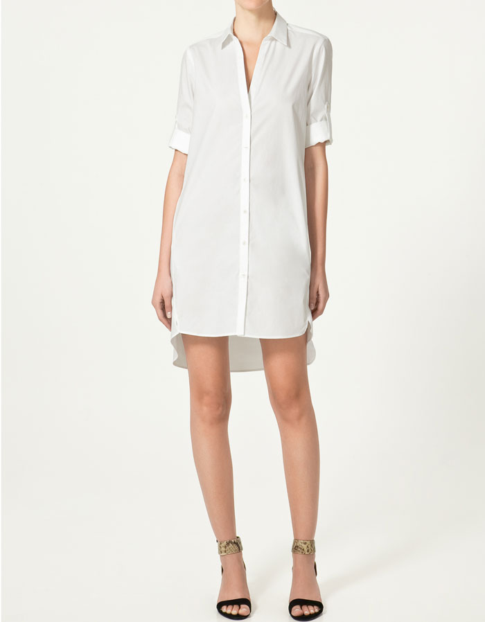Zara Long Shirt Dress ($50)