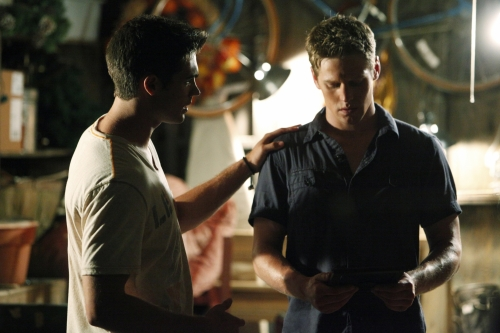 Steven R. McQueen as Jeremy, and Zach Roerig as Matt on The Vampire Diaries.  Photo courtesy of The CW