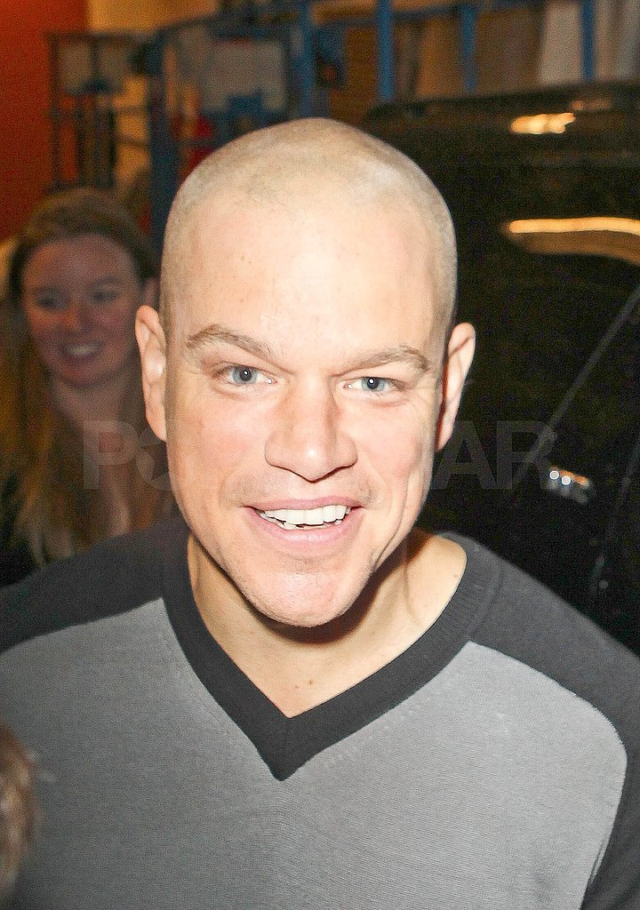 Matt Damon's freshly shaved head was a hot topic this morning.