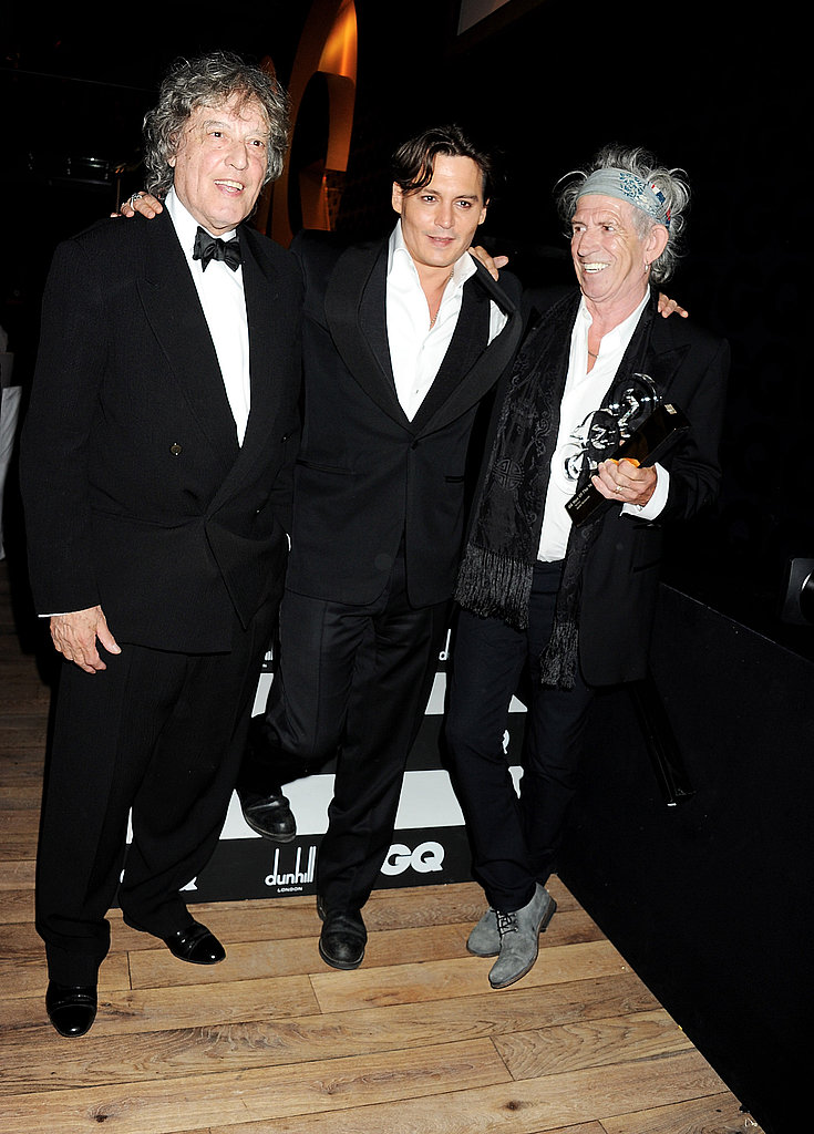 Tom Stoppard, Johnny Depp, and Keith Richards at the GQ Men of the Year Awards Ceremony 2011 at the Royal Opera House.