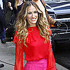 Sarah Jessica Parker in Pink &amp; Red at David Letterman