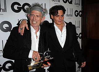 Johnny Depp und Keith Richards Fotos bei den GQ Men of the Year Awards