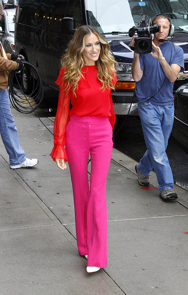 Sarah Jessica Parker arrives at David Letterman in NYC.