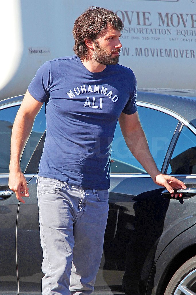Ben Affleck arrived at a studio in LA.