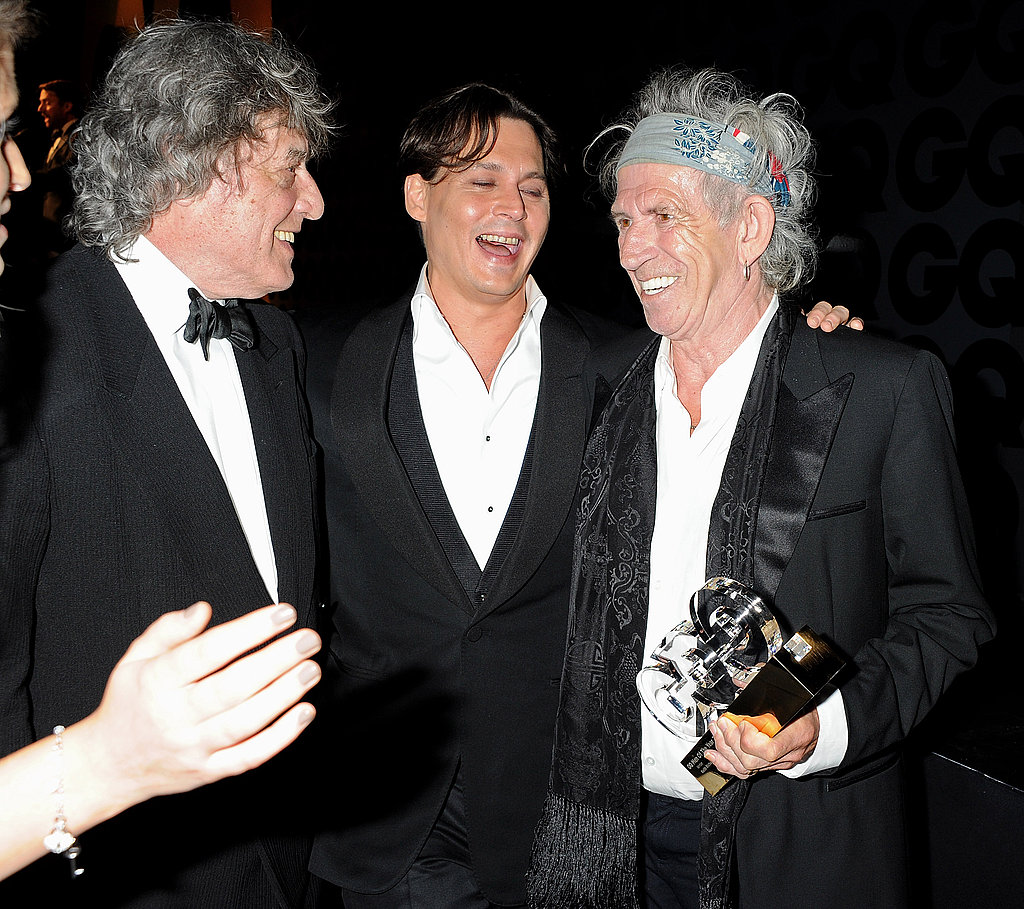 Johnny Depp hangs out with Keith Richards and Tom Stoppard.