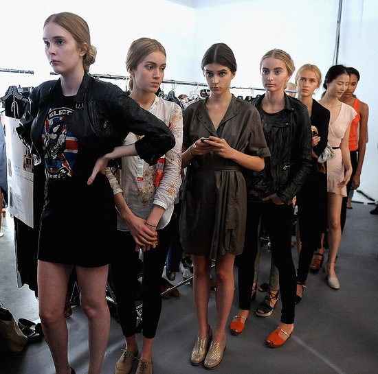 Backstage Rachel Comey Spring 2012