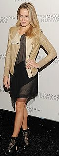 Shantel VanSanten in Sheer BCBGMaxAzria Dress