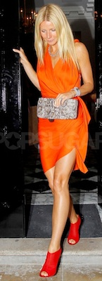 Gwyneth Paltrow in Orange Lanvin Dress