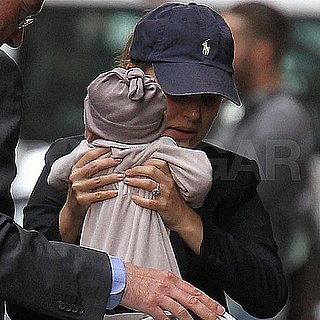 Natalie Portman Son Aleph Millepied Pictures in Paris