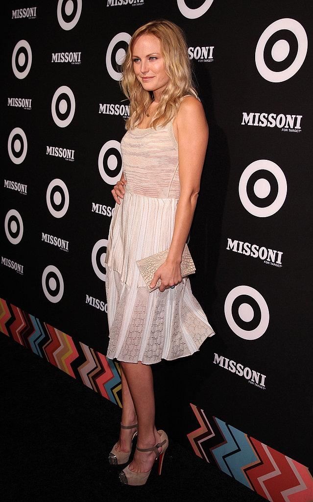 Malin Akerman was ladylike in white.