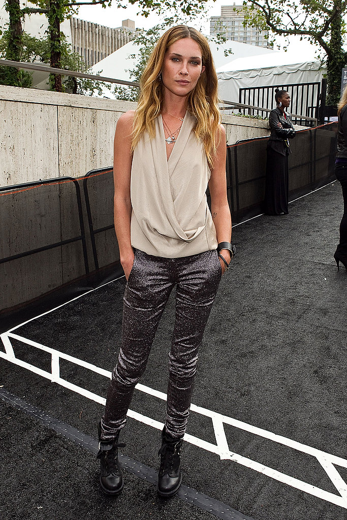 Erin Wasson at NYFW.