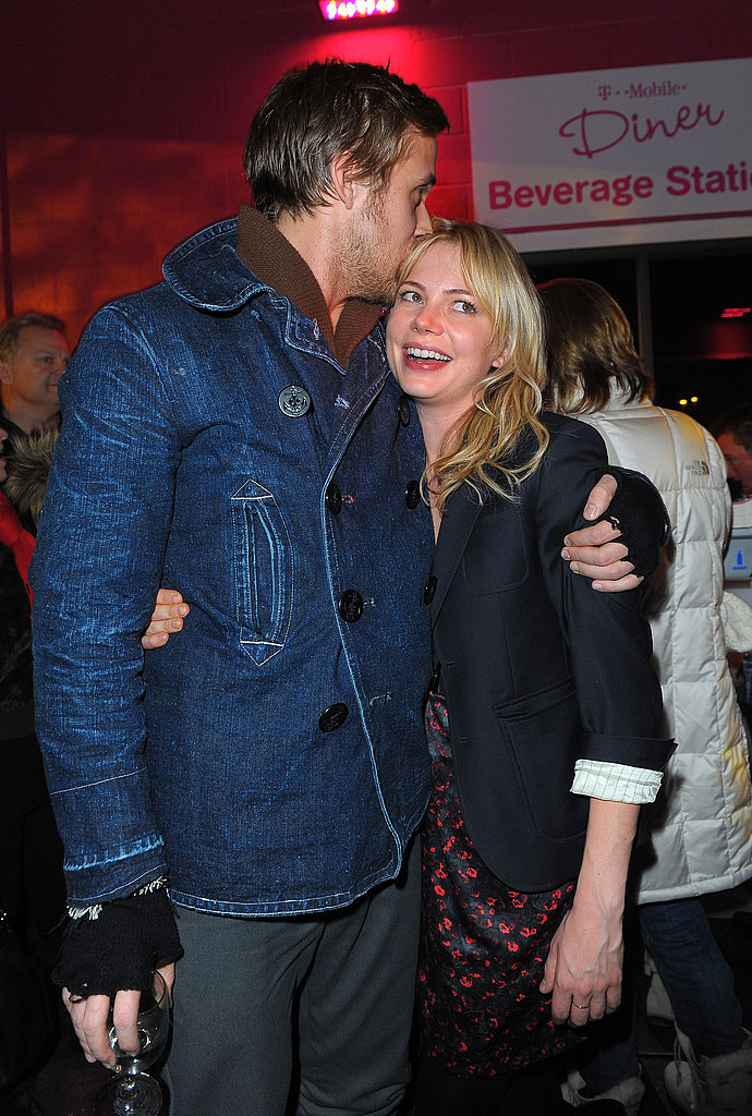 Ryan Gosling greeted Michelle Williams with a sweet kiss during a January 2010 Sundance Film Festival party.