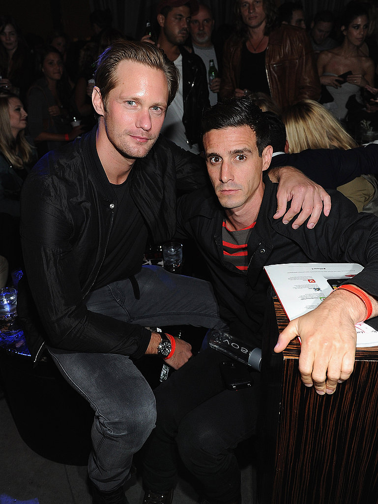 Alexander Skarsgard and James Ransone at BlackBook's party.