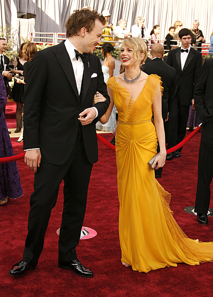 Michelle Williams's beautiful Vera Wang gown stole the show at the March, 2006 Oscars.