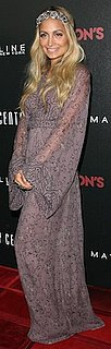Nicole Richie in Winter Kate Silk Maxi Dress