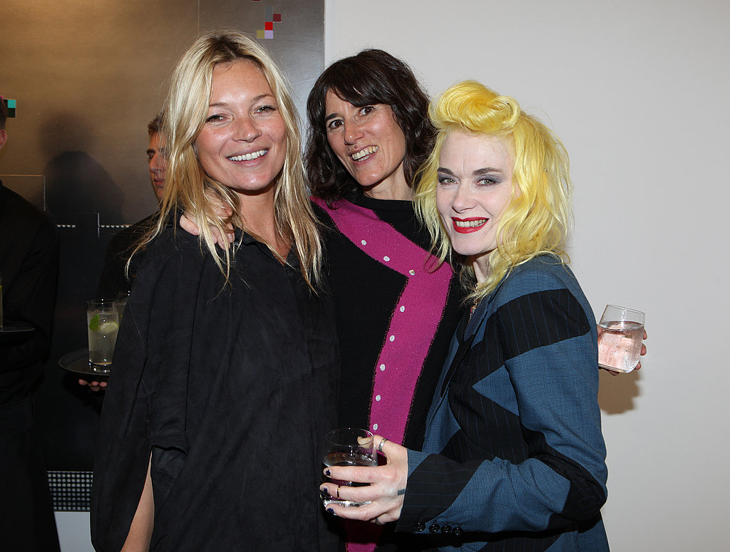Kate Moss, Bella Freud and Pam Hogg at the debut screening of Bella Freud and Martina Amati's short film.