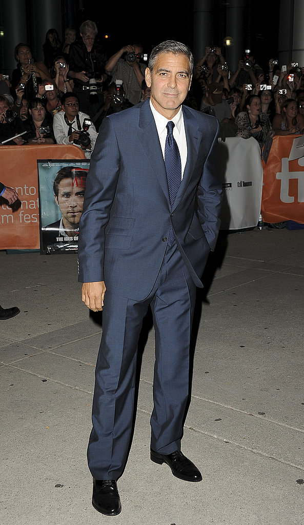 George Clooney Brings Stacy Keibler to Join Hot Ryan Gosling at TIFF Ides of March Premiere