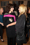 Kate Moss and friend Bella Freud.
