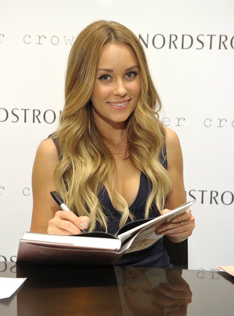 Lauren Conrad signed autographs on Fashion's Night Out in LA.