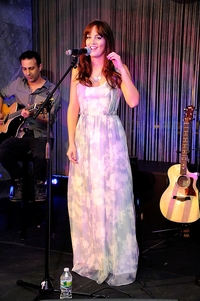 Leighton Meester sang on Fashion's Night Out at Tiffany & Co.