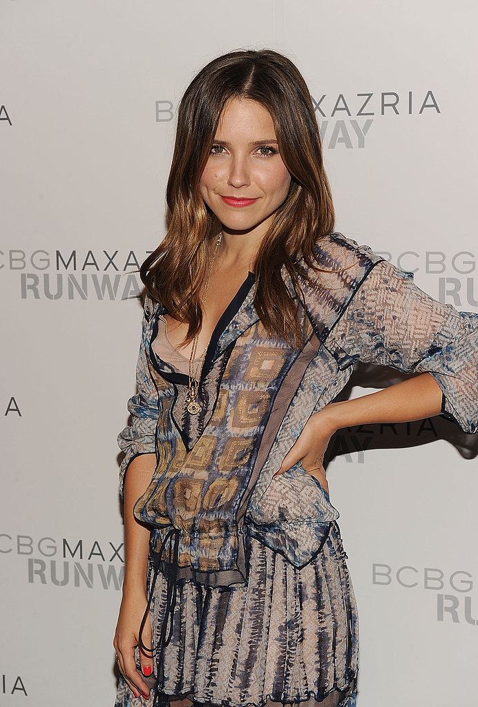 Sophia Bush struck a pose at BCBG Max Azria's show in NYC.