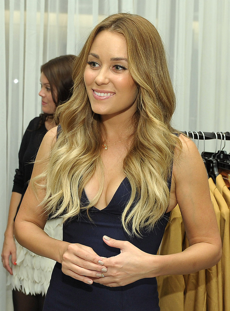 Lauren Conrad was all smiles at Fashion's Night Out.