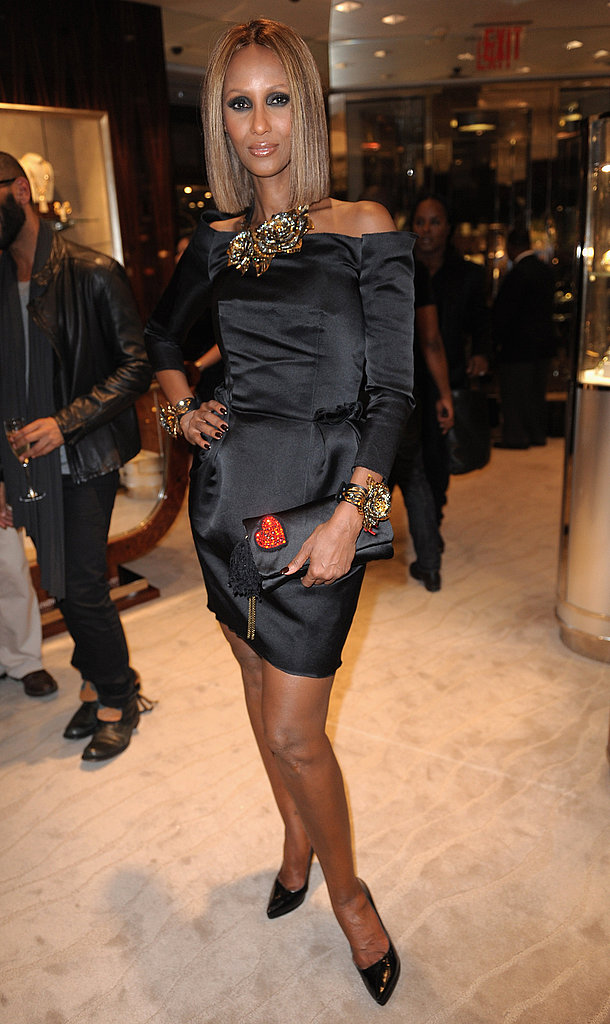 Iman at Fred Leighton.