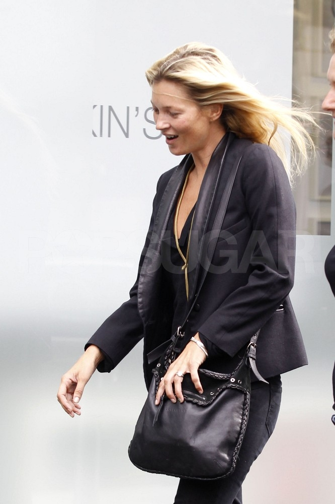Kate Moss reports to work.