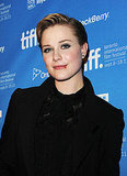 Evan Rachel Wood at The Ides of March press conference in Toronto.