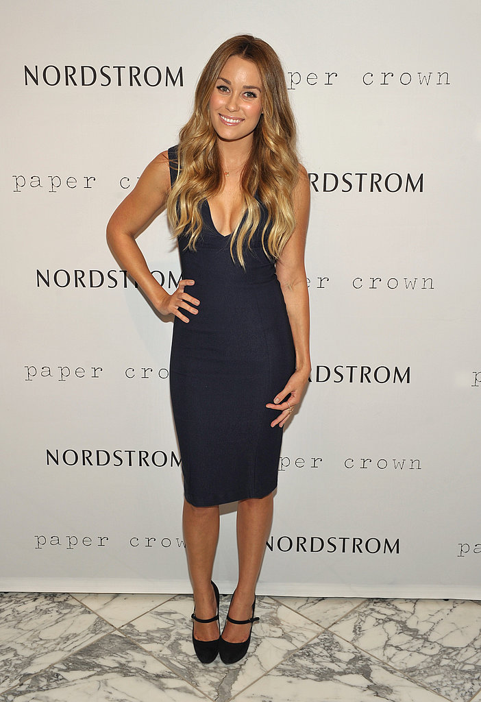 Lauren Conrad in a blue dress.