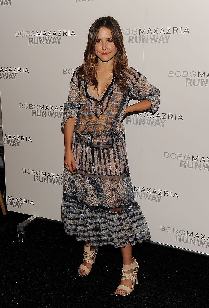 Sophia Bush at New York Fashion Week.