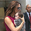 Victoria Beckham Holding Harper Beckham Picture