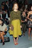 Whitney Port shows off a ladylike look in Luca Luca's front row.