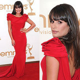 Emmys: Lea Michele in a Marchesa Gown
