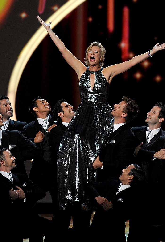 Jane Lynch hosted the 2011 Emmy Awards.
