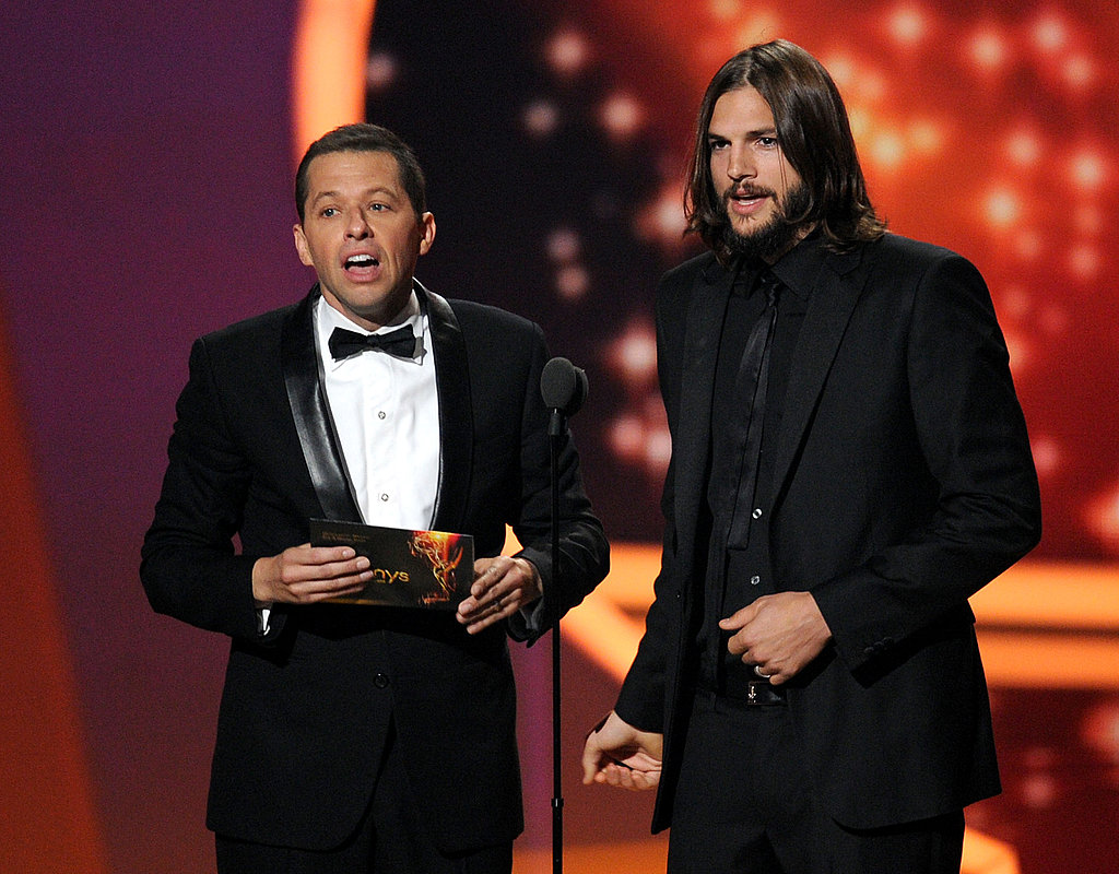 Ashton Kutcher and Jon Cryer took the stage at the 2011 Emmy Awards.