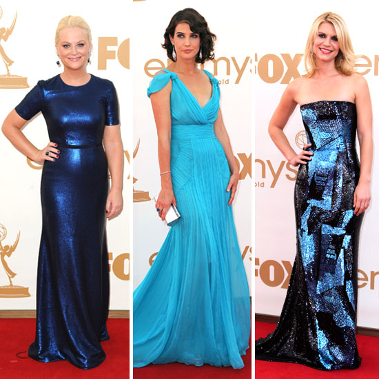 Leading Ladies Are Feeling Blue on the Emmys Red Carpet