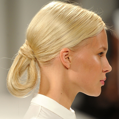 The Loopy Chignons at Carolina Herrera