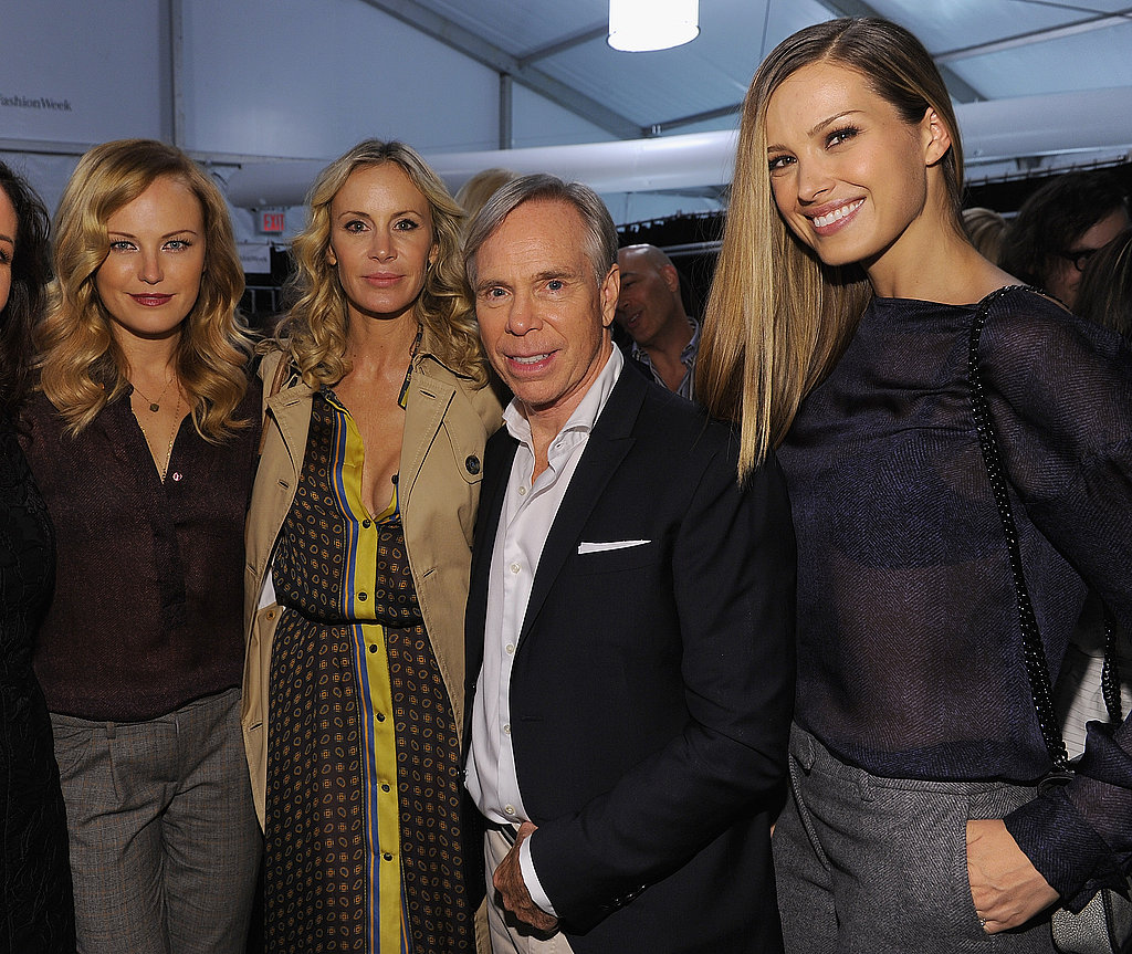 Malin Akerman and Petra Nemcova posed with Tommy Hilfiger backstage.