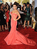 Eva Longoria arrives at the ALMA Awards.